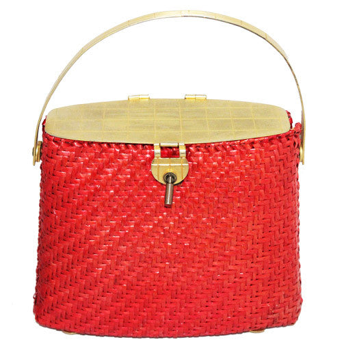 Unique Wicker 50s Handbag