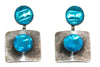 Vintage Jacques Gautier Turquoise Enamelled Earrings 1960