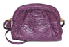 Reserved - Exceptional Italian Purple Ostrich Vintage bag 80s