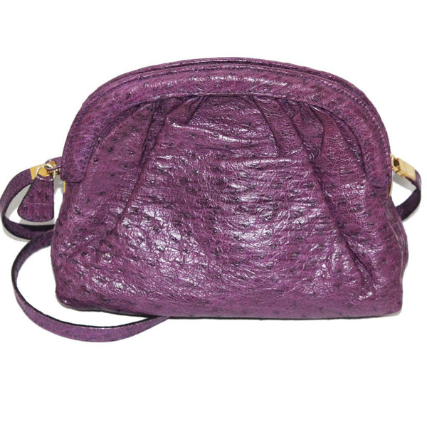 Exceptional Italian Purple Ostrich Vintage bag collector