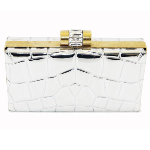 YSL Rive Gauche Mirror clutch Collector c.2000