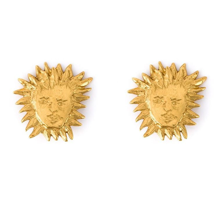 Rare and collectable YSL vintage sun earrings by Robert Goossens c.1980s