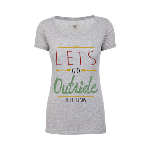 Let's Go Outside Scoop Neck Tee