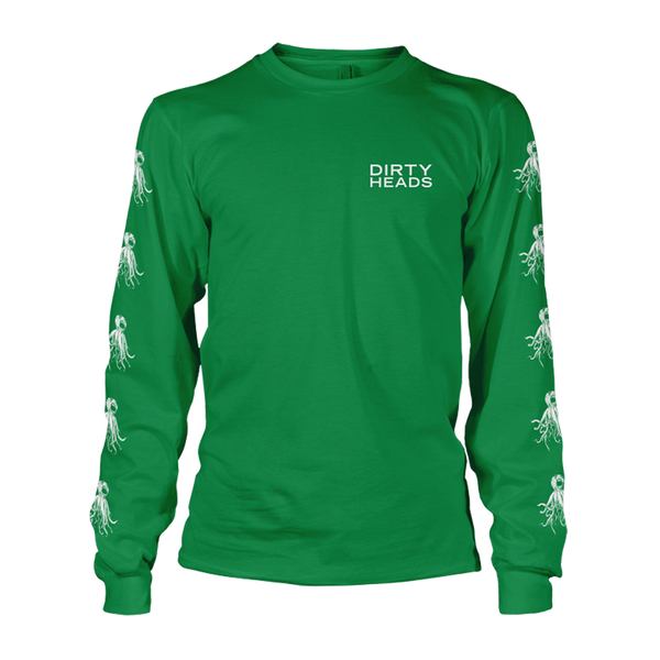 LIMITED -  Irish Green Octopus Longsleeve