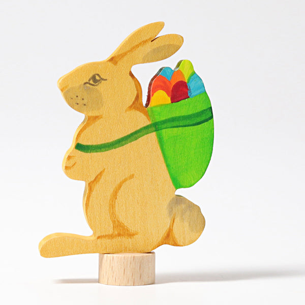 4231 Grimms Decorative Figure Rabbit with Basket