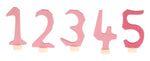 Grimms Decorative Numbers Set 1-5, pink - Little Earth Farm