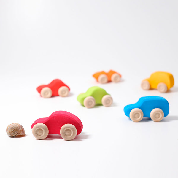 grimms coloured wooden cars