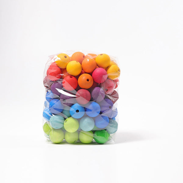 grimms 96 coloured beads 30mm
