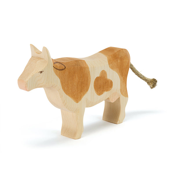 brown cow standing