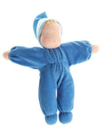 Grimms Soft Doll, blue - Little Earth Farm