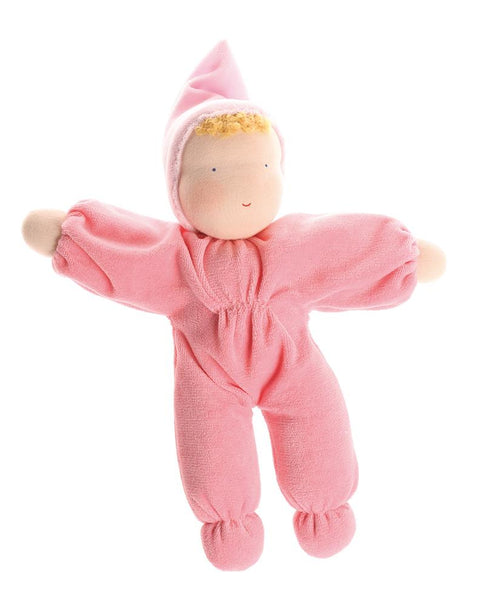 Grimms Soft Doll, pink - Little Earth Farm