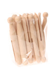 grimms wooden dolly clothes pegs natural