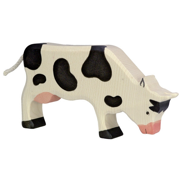 Holztiger Cow, Grazing, Black