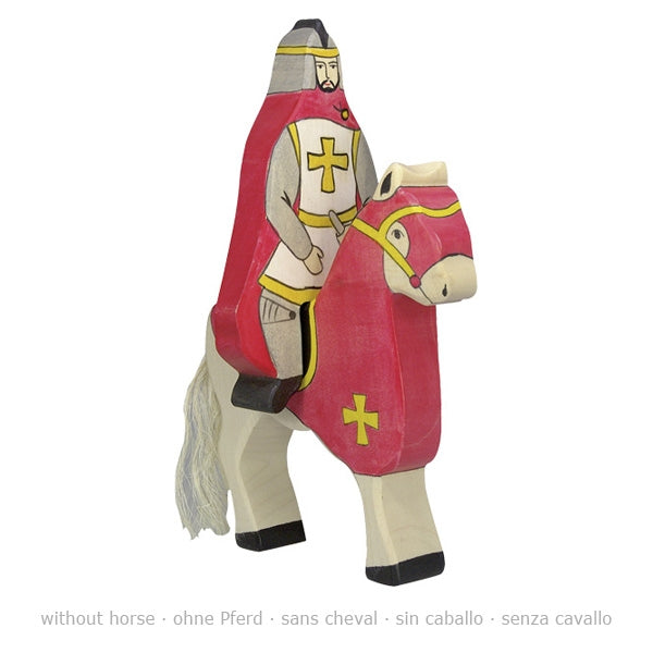 holztiger red knight with cloak riding without horse