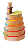 Grimms Large Semi-circles, Rainbow Colours, 11 pieces - Little Earth Farm