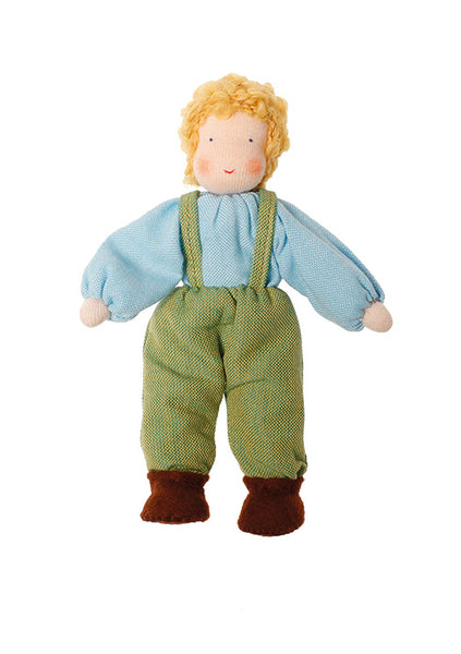 Grimms Dollhouse Doll Boy Blonde - Little Earth Farm