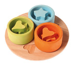 Grimms Small Sorting Game, 3 Wooden Bowls