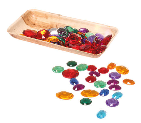 Grimms 100 Acrylic Glitter Stones - Little Earth Farm