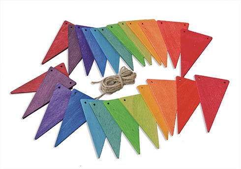 Grimms Pennant Banner, Rainbow Colours - Little Earth Farm