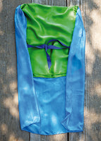 83163 Sarah's Silks Knight Costume, Emerald with Blue Cape - Discontinued