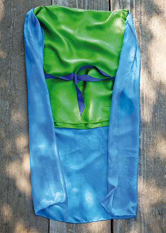 Grimms Knight Costume, Emerald with Blue Cape