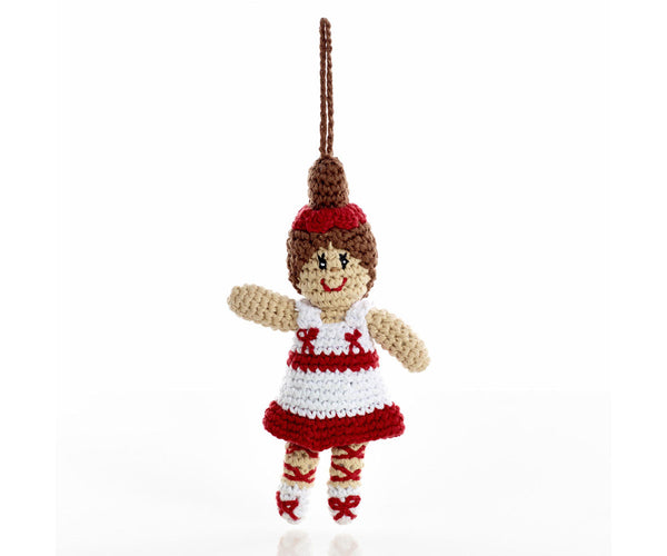 Pebble Knitted Ballerina Christmas Decoration