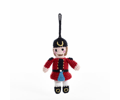 Pebble Knitted Nutcracker Christmas Decoration