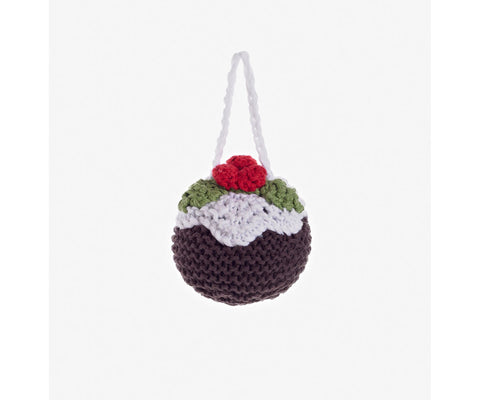 Pebble Knitted Pudding Christmas Decoration