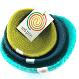 respiin jute mini bowl set ocean