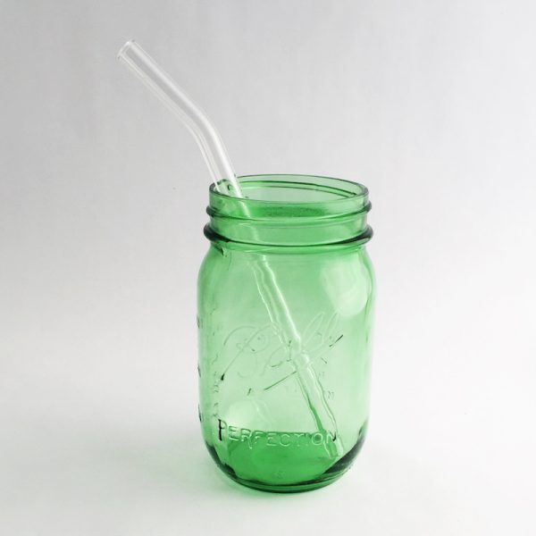 "Strawesome Glass Straw - Barely Bent Regular 8"" - Clear"