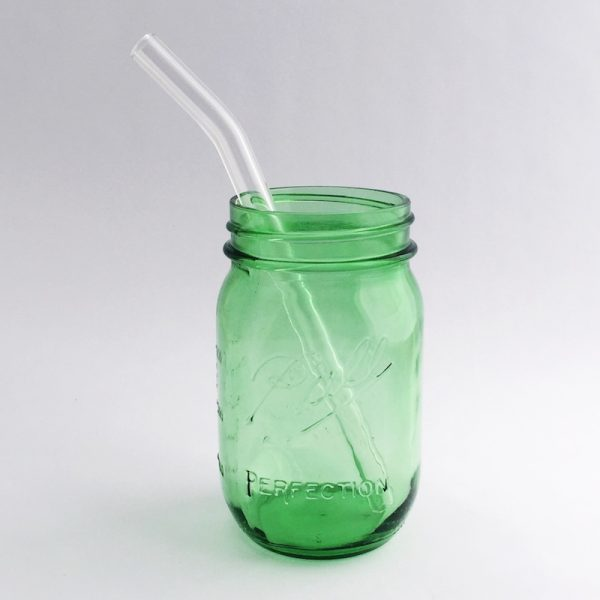 Strawesome Glass Straw - Barely Bent Smoothie - Clear