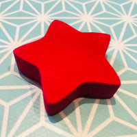 Grimms Spare Part - Sorting Game Wooden Star Red