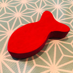 Grimms Spare Part - Sorting Game Wooden Fish Red