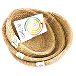 respiin jute mini bowl set natural