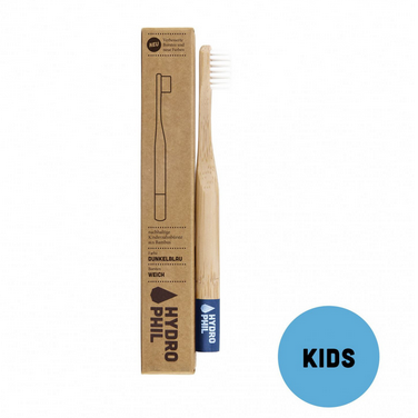 HYDROPHIL Sustainable and Vegan KIDS Toothbrush - Dark-Blue / Soft