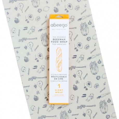 Abeego Reusable Beeswax Food Wrap - 1 'Extra Long Flat' Giant Pack
