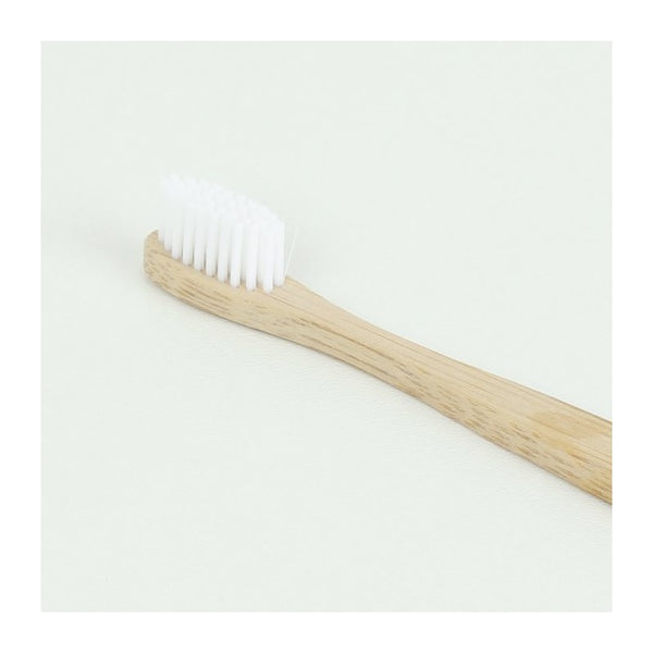 curanatura bamboo health toothbrush with nylon bristles