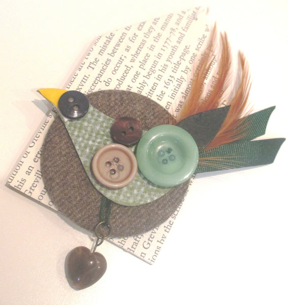 thrift design bird brooch capercaillie
