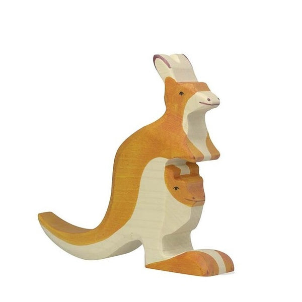 holztiger kangaroo with young
