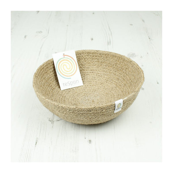 Respiin Jute Bowl - Medium - Natural - Little Earth Farm