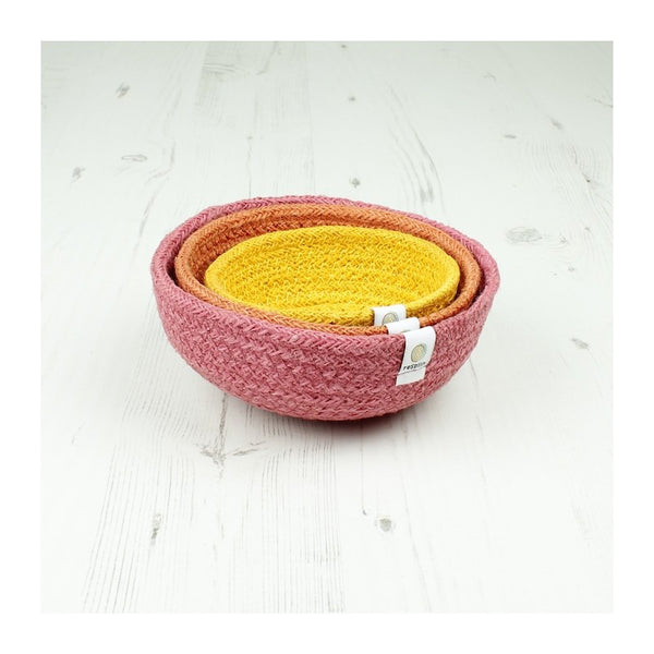 Respiin Jute Mini Bowl Set - Fire - Little Earth Farm