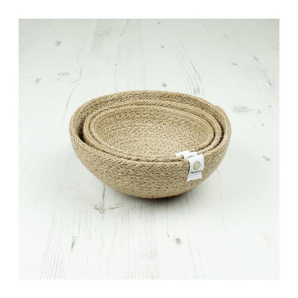 Respiin Jute Mini Bowl Set - Natural - Little Earth Farm