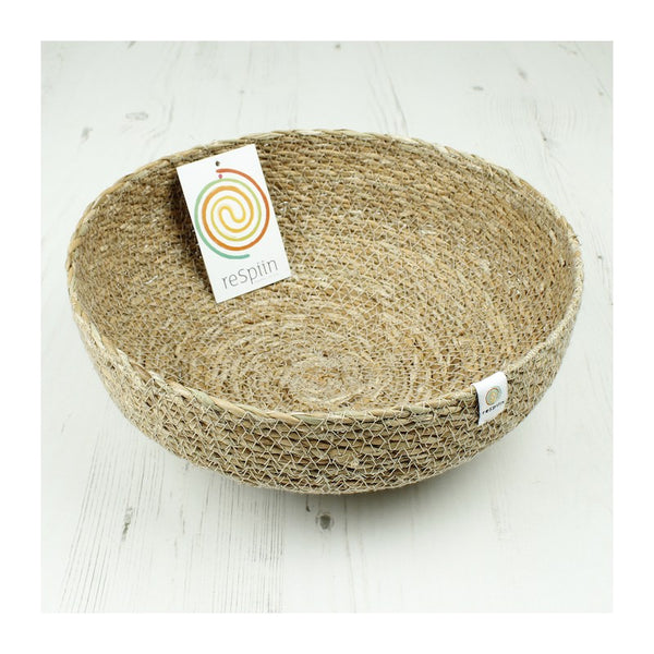 Respiin Seagrass Bowl - Large - Natural - Little Earth Farm