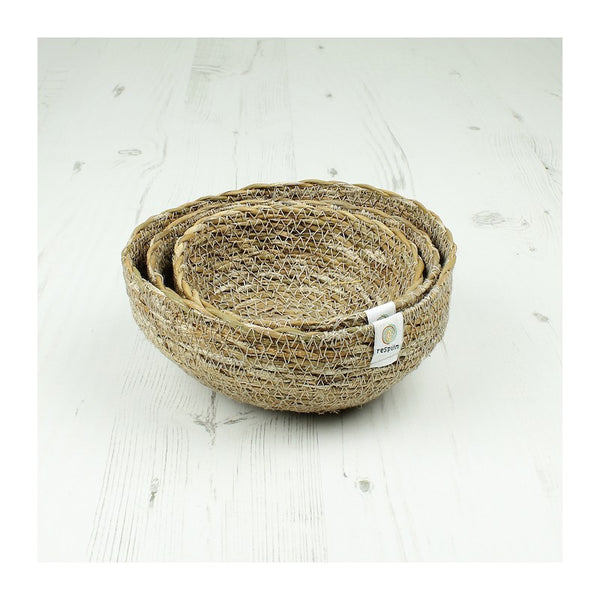 Respiin Seagrass Mini Bowl Set - Natural - Little Earth Farm