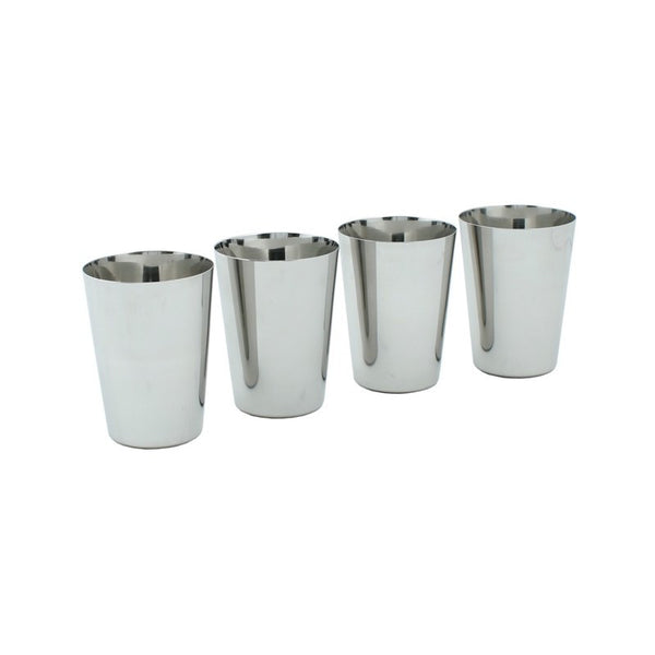 A Slice Of Green Stainless Steel Cups - Set of 4 - Little Earth Farm