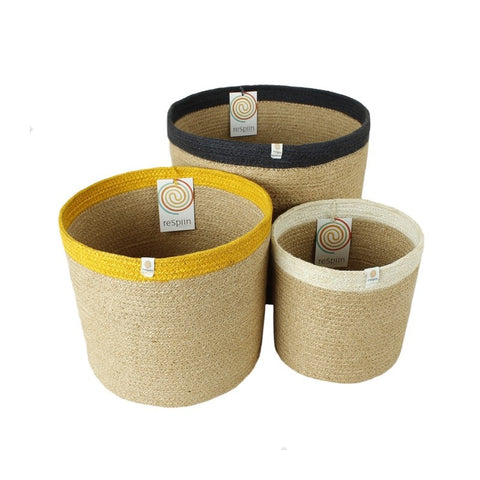 Respiin Tall Jute Basket - Small, Medium, Large - Set or Singles
