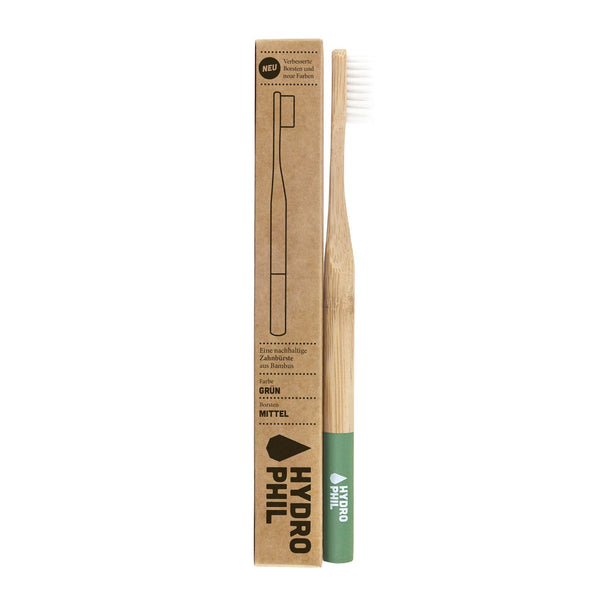 HYDROPHIL Sustainable and Vegan ADULT Toothbrush - Green / Medium