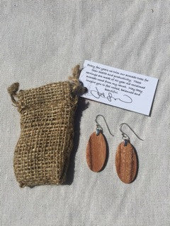 Avocado Wood Earrings - Jason Mraz  - 1