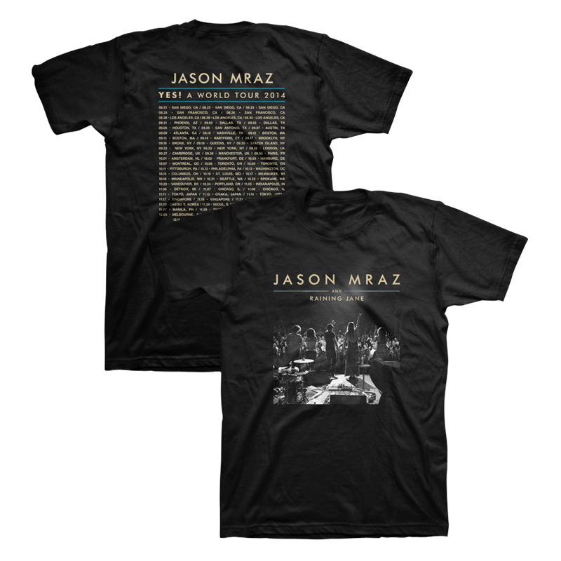2014 Tour T-Shirt (Black) - Jason Mraz