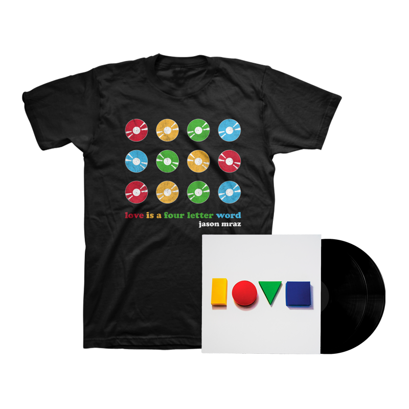 Love Is A Four Letter Word Double LP + Tee Bundle - Jason Mraz
